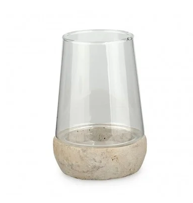 glass-candle-holder-with-concrete-base
