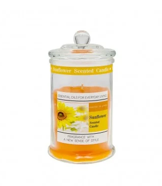jar-with-candle-18-cm-sunflower
